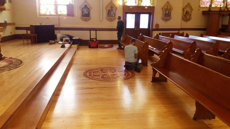 Installing Church Pews